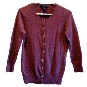 Express Purple Angola Blend Cardigan Button Down